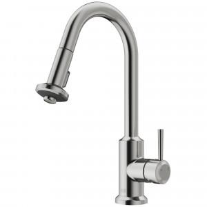 VIGO Astor Pull-Down Spray Kitchen Faucet In Stainless Steel