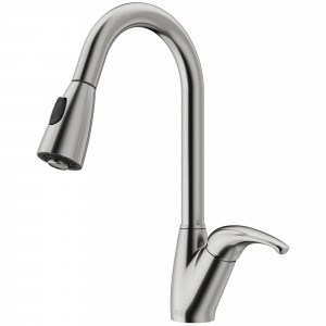 VIGO Romano Pull-Down Spray Kitchen Faucet In Stainless Steel
