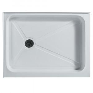 Rectangular Shower Tray White Left Drain