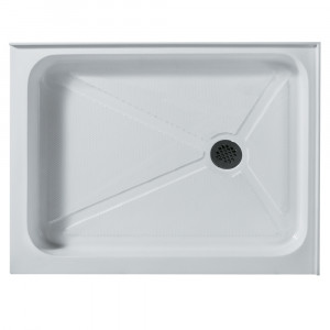 Rectangular Shower Tray White Right Drain