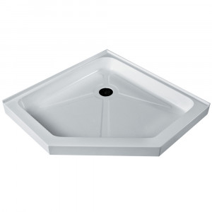 Short   Low Profile Neo Angle Shower Tray White