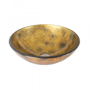 Copper Shapes Glass Vessel Bathroom Sink