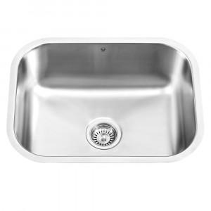 23-inch Undermount Stainless Steel 18 Gauge Single Bowl Kitchen Sink