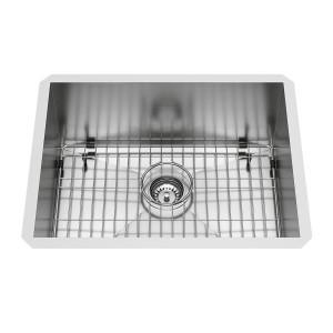 """VIGO 23"""" X 18"""" Ludlow Stainless Steel Undermount Kitchen Sink, With Grid And Strainer"""