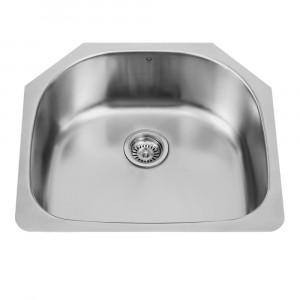 24-inch Undermount Stainless Steel 18 Gauge Single Bowl Kitchen Sink