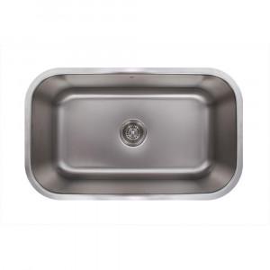 30-inch Undermount Stainless Steel 18 Gauge Single Bowl Kitchen Sink