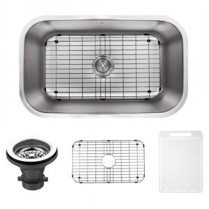 30 inch undermount stainless steel kitchen sink grid and strainer - Kitchen Sink Grates