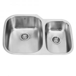 30-inch Undermount Stainless Steel 18 Gauge Double Bowl Kitchen Sink