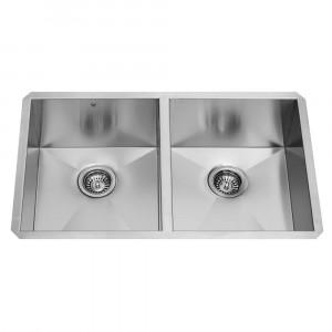 32-inch Undermount Stainless Steel 16 Gauge Double Bowl Kitchen Sink