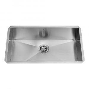 32-inch Undermount Stainless Steel 16 Gauge Single Bowl Kitchen Sink