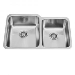 32-inch Undermount Stainless Steel 18 Gauge Double Bowl Kitchen Sink