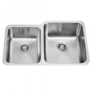 32-inch Undermount 18 Gauge Double Bowl Kitchen Sink