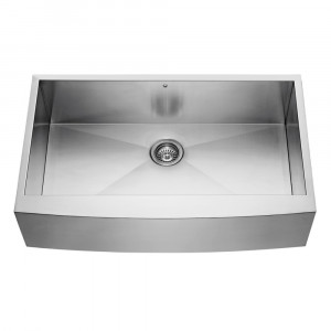 36-inch Farmhouse Stainless Steel 16 Gauge Single Bowl Kitchen Sink