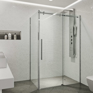 Vigo Alameda 32X48 Frameless Sliding Door Shower Enclosure