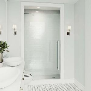 Vigo Cameo Adjustable Frameless Pivot Shower Door