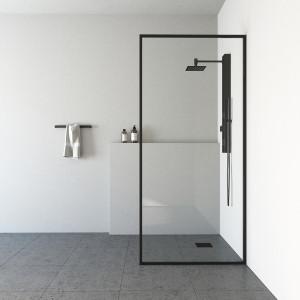 "VIGO Meridian 34"" X 74"" Fixed Glass Shower Screen"