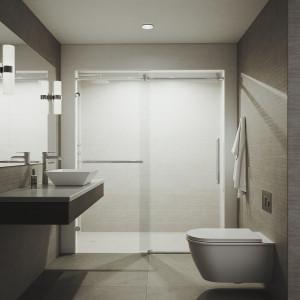 Vigo Ferrara Adjustable Frameless Sliding Shower Door