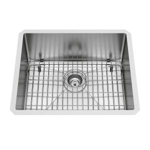 """VIGO 23"""" Mercer Stainless Steel Undermount Kitchen Sink, With Grid And Strainer"""