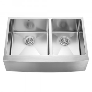 33-inch Farmhouse Stainless Steel 16 Gauge Double Bowl Kitchen Sink