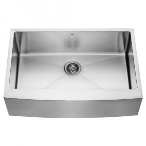 33-inch Farmhouse Stainless Steel 16 Gauge Single Bowl Kitchen Sink