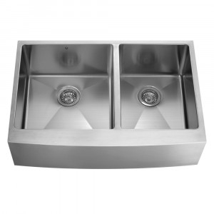 36-inch Farmhouse Stainless Steel 16 Gauge Double Bowl Kitchen Sink