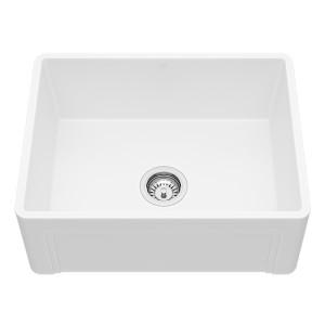 "VIGO 24"" Casement Front Matte Stone Farmhouse Kitchen Sink"