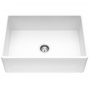 VIGO 27-Inch Crown Apron Front Matte Stone Farmhouse Kitchen Sink