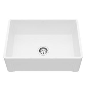 "VIGO 27"" Casement Front Matte Stone Farmhouse Kitchen Sink"