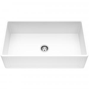 VIGO 33-Inch Single Bowl Crown Apron Front Matte Stone Farmhouse Kitchen Sink