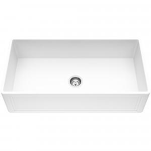 VIGO 36-Inch Single Bowl Crown Apron Front Matte Stone Farmhouse Kitchen Sink