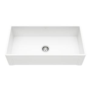 "VIGO 36"" Casement Front Matte Stone Farmhouse Kitchen Sink"