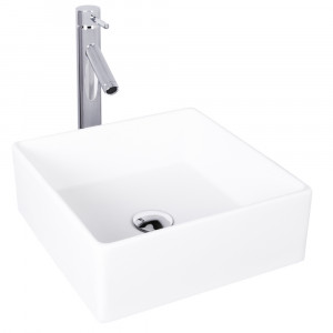 VIGO Dianthus Matte Stone Vessel Bathroom Sink Set With Dior Vessel Faucet In Chrome