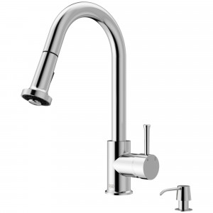 VIGO Harrison Pull-Down Spray Kitchen Faucet With Soap Dispenser