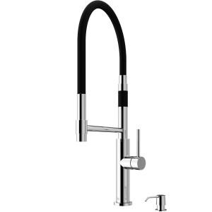 VIGO Norwood Magnetic Spray Kitchen Faucet With Soap Dispenser