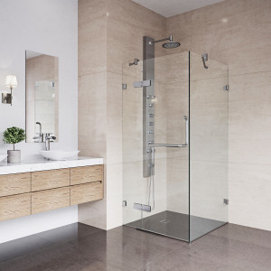 VIGO Monteray Frameless Shower Enclosure
