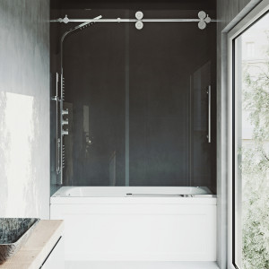 VIGO Elan Frameless Adjustable Sliding Tub Door