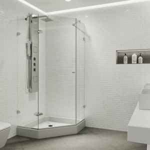 VIGO Verona Frameless Neo Angle Shower Enclosure With Base