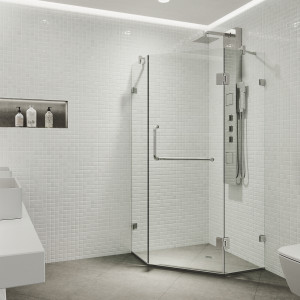 VIGO Piedmont Frameless Neo-Angle Shower Enclosure