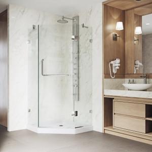 VIGO Piedmont Frameless Neo-Angle Shower Enclosure With Low-Profile Base