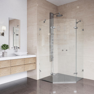 VIGO Gemini Frameless Neo-Angle Shower Enclosure