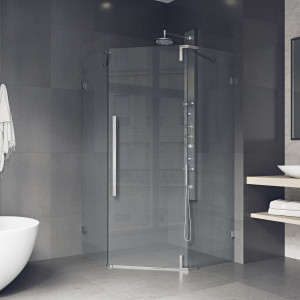 VIGO Ontario Adjustable Frameless Neo-Angle Shower Enclosure