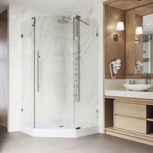 VIGO Ontario Frameless Neo-Angle Shower Enclosure With Base