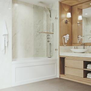 VIGO Rialto Bathtub Door