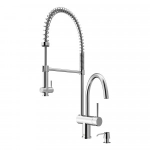 Dresden Pull-Down Spray Kitchen Faucet with Soap Dispenser
