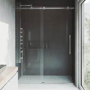 vigo shower doors. VIGO Luca Adjustable Frameless Sliding Shower Door Vigo Doors