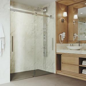 VIGO Caspian Adjustable Frameless Sliding Shower Door