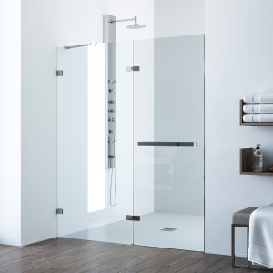 VIGO Nyos Adjustable Frameless Shower Door
