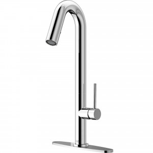 VIGO Oakhurst LED Pull-Down Kitchen Faucet With Deck Plate In Chrome
