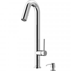 VIGO Oakhurst LED Pull-Down Kitchen Faucet With Soap Dispenser In Chrome