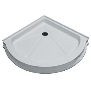 Round Shower Tray White